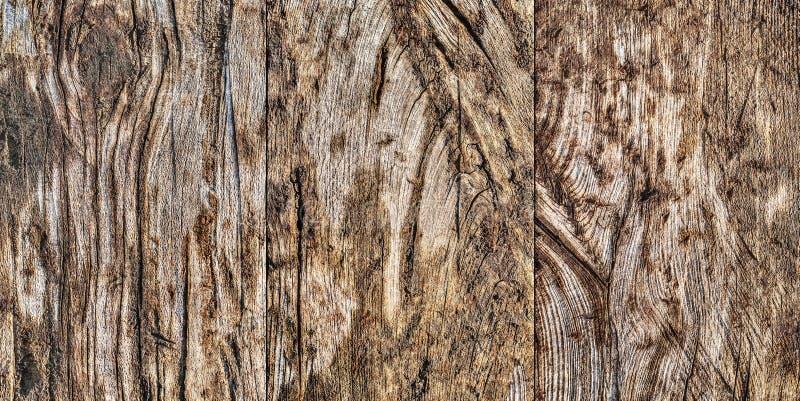 Madera de pino anudada agrietada estropeada resistida vieja de alta resolución foto de archivo