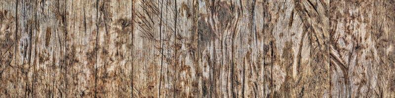 Madera de pino anudada agrietada estropeada resistida vieja de alta resolución imagen de archivo libre de regalías