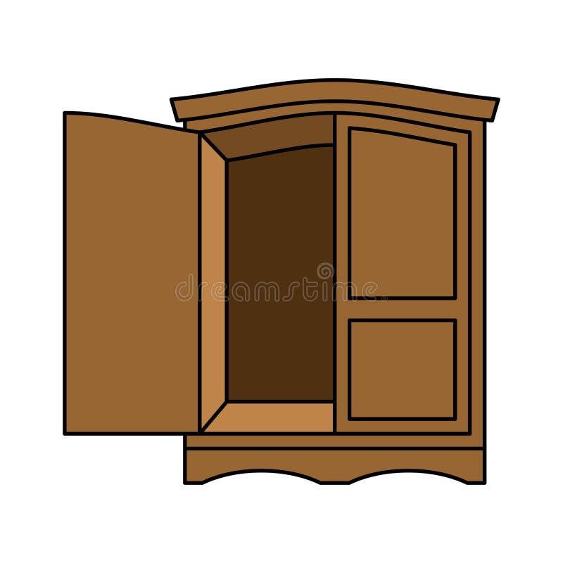 Madera Del Guardarropa Retra Muebles Para La Ropa Gabinete Del ...