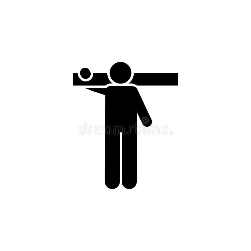 Madera, icono del hombre Elemento del hombre con el icono al azar del objeto Icono superior del dise?o gr?fico de la calidad Mues libre illustration