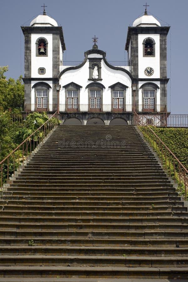 Madera - Igreja DE Nossa Senhora doet Kerk Monte royalty-vrije stock foto