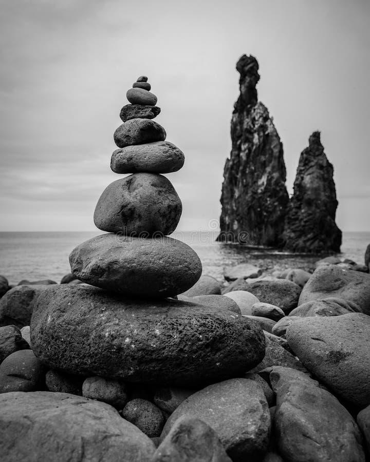 Madera Island Rock formacja Ribeira da Janela obrazy stock