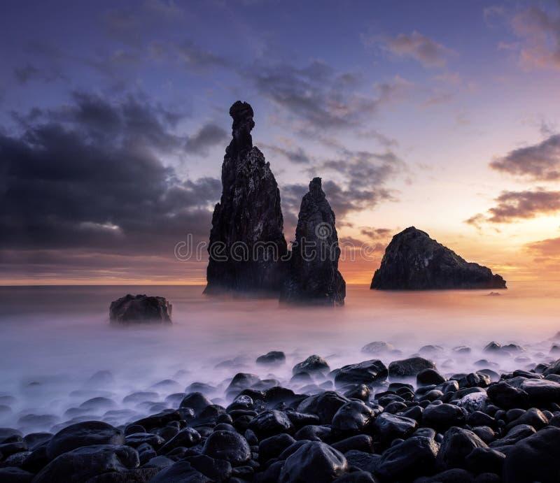 Madera krajobraz przy zmierzchem zdjęcie royalty free