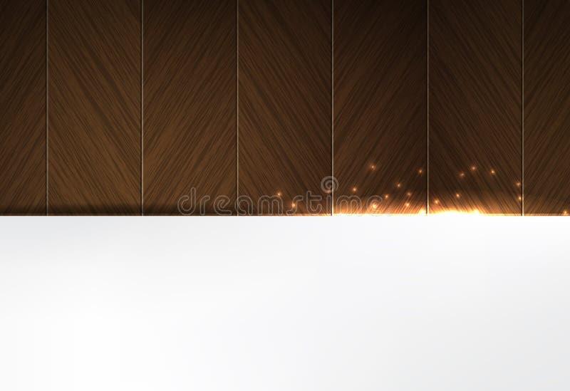 Fondo de madera y que brilla intensamente del negocio del tema de las chispas libre illustration