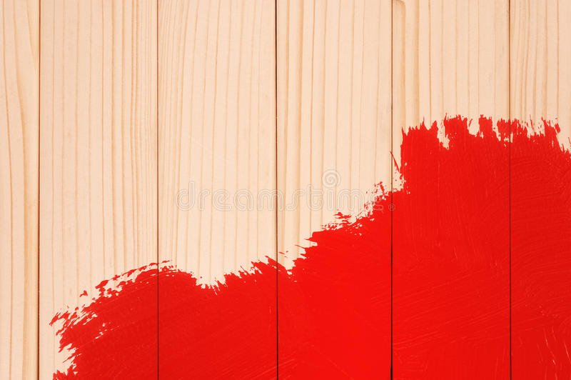 Madera pintada imagenes de archivo
