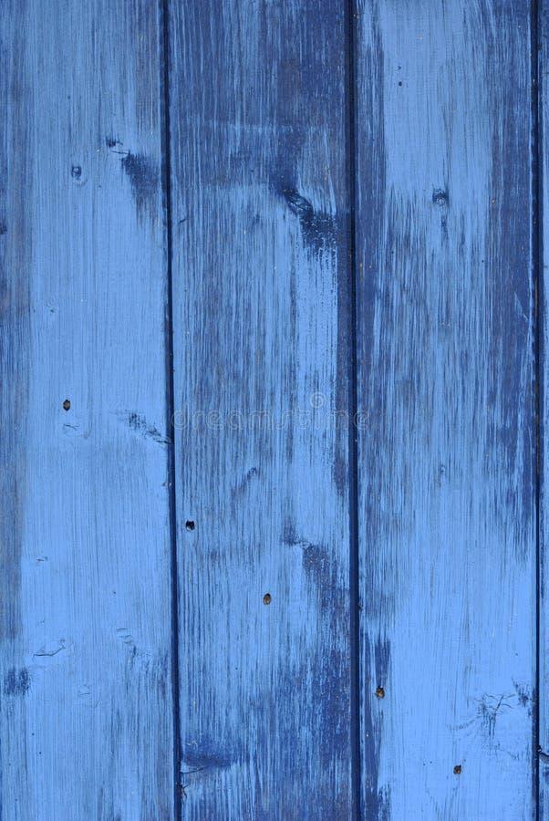 Madera pintada en azul imagen de archivo