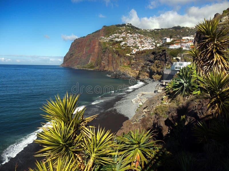 Madera, południowe wybrzeże, Camara De Lobos, Portugalia zdjęcia stock