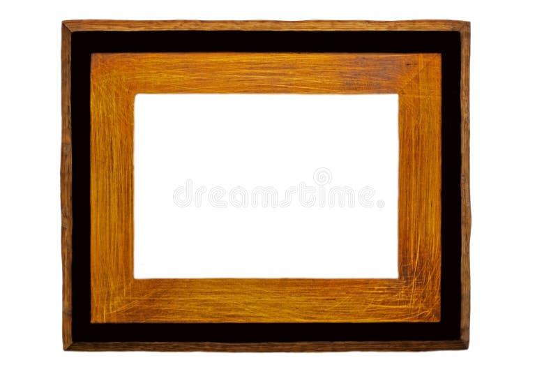 Madera rústica/marco negro foto de archivo libre de regalías