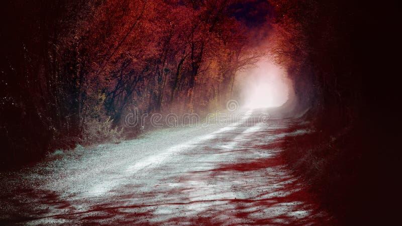 Madera roja mística fotos de archivo