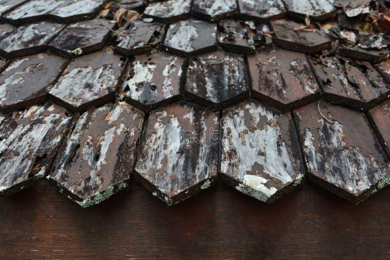 Madera vieja del tejado fotos de archivo
