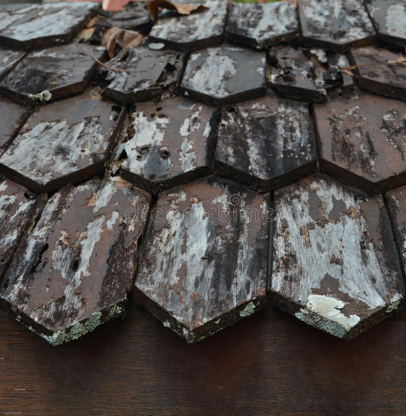 Madera vieja del tejado fotos de archivo libres de regalías