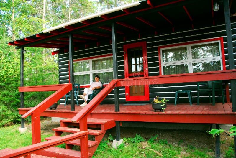 Download Maderas De La Cabina De Registro Foto de archivo - Imagen de configuración, cubierta: 1295930