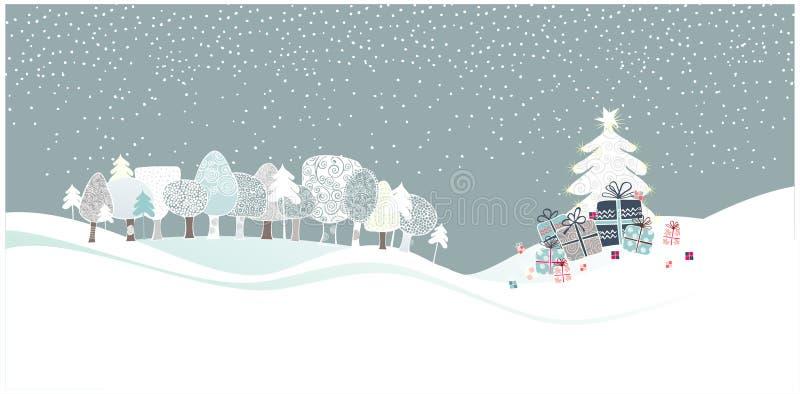 Maderas de la Navidad stock de ilustración