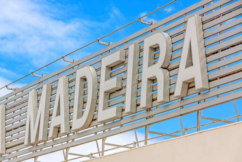 Madery literowanie przy lotniskiem zdjęcia royalty free