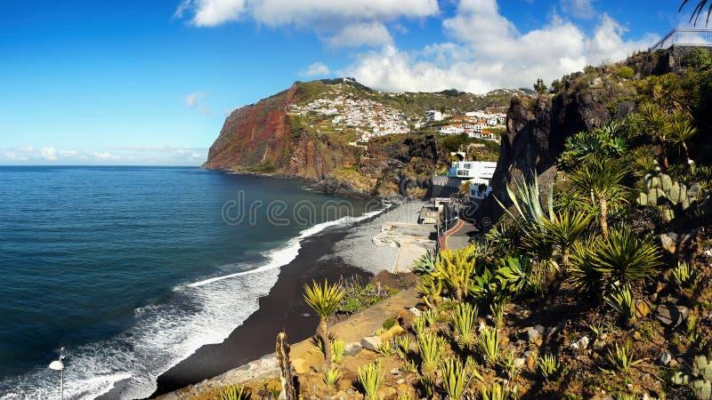 Madery wyspa, Cabo Girao, południowe wybrzeże obrazy royalty free