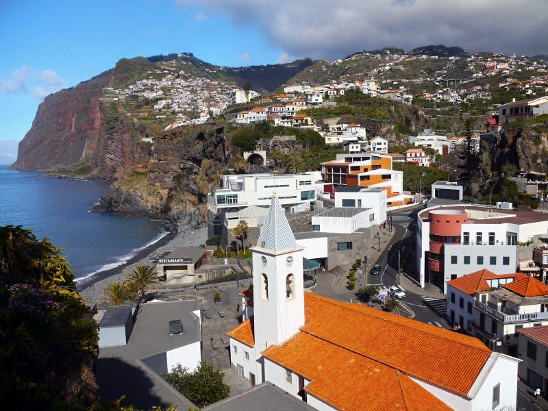 Madery wyspa, południowe wybrzeże, Camara De Lobos, Portugalia zdjęcie royalty free
