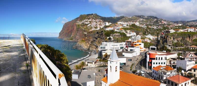Madery wyspa, południowe wybrzeże, Camara De Lobos, Portugalia obraz royalty free
