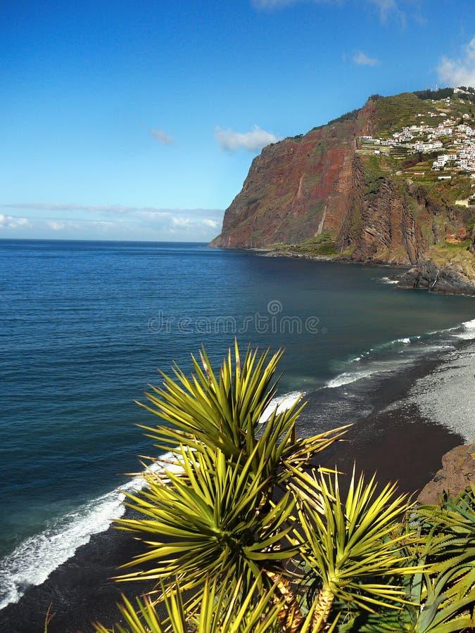 Madery wyspa, południowe wybrzeże krajobraz obraz royalty free