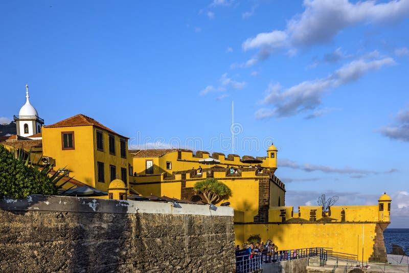 Madery wyspa, Portugalia Nadbrzeże Funchal stary zamek zdjęcia royalty free