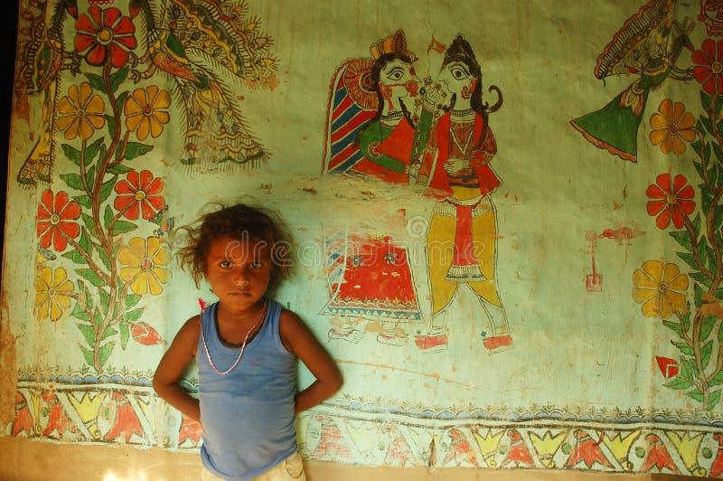 Madhubani Anstrich in Bihar-Indien