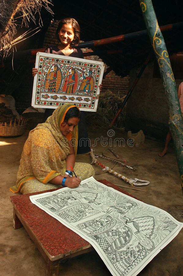 Download Madhubani Painting In Bihar-India Editorial Photography - Image: 10622772