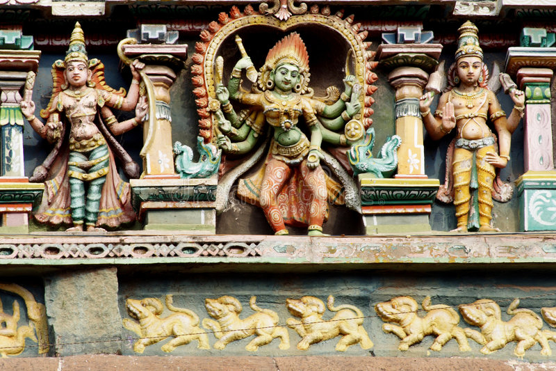 Madhurai Meenakshi Tempel stockbild