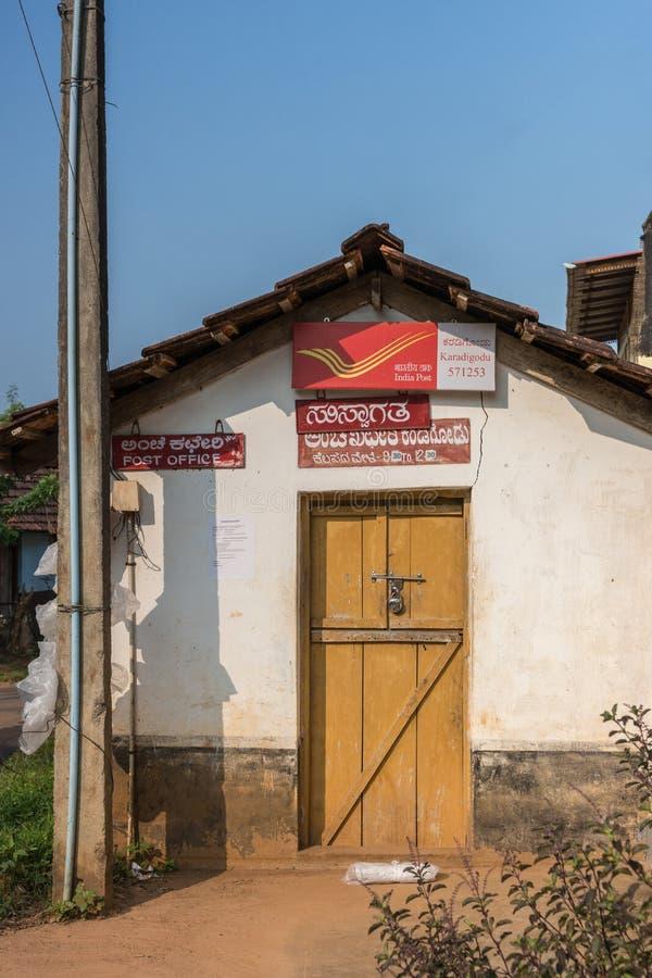 Public post office in Madikeri, India. royalty free stock photo