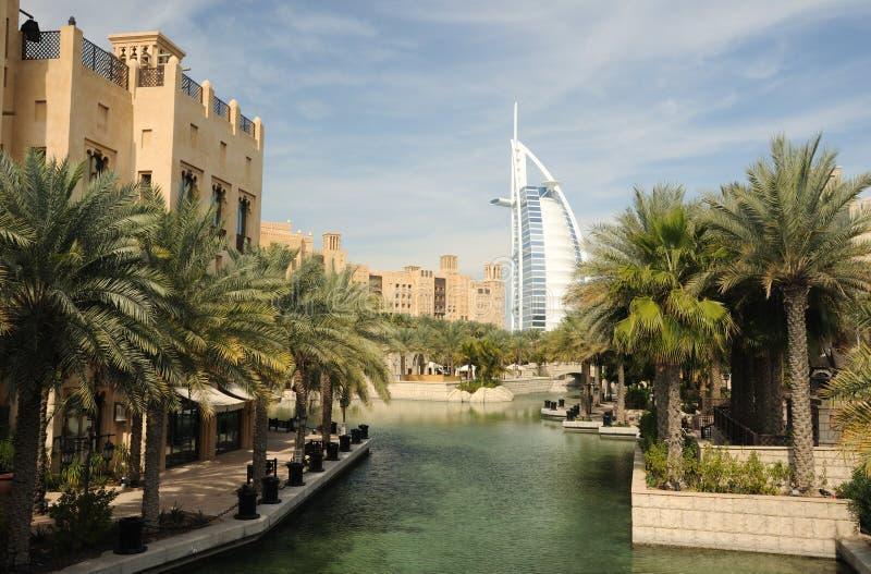 Madinat Jumeirah in Dubai royalty free stock images