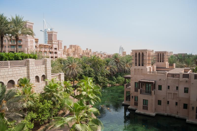 Madinat Jumeirah luxury Hotel Dubai stock photography