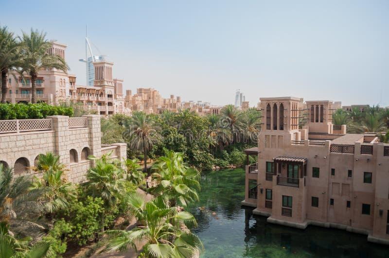 Madinat Jumeirah lyxigt hotell Dubai arkivbild