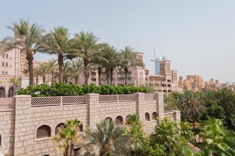 Madinat Jumeirah lyxigt hotell i Dubai, UAE royaltyfri fotografi