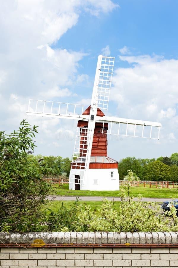 Madingley Windmill, East Anglia, England. Outdoors, outside, exteriors, europe, western, great, britain, united, kingdom, uk, cambridgeshire, county stock photography