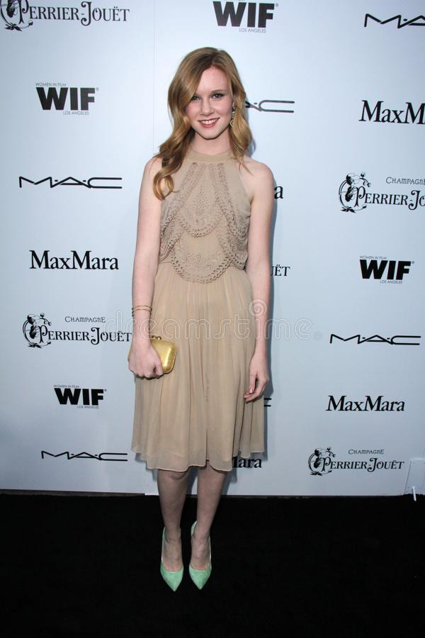 Madisen Beaty. At the Sixth Annual Women In Film Pre-Oscar Coctail Party, Fig & Olive, Los Angeles, CA 02-22-12 stock photography