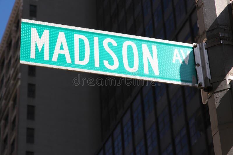 Madison Avenue imagens de stock