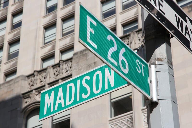 Madison Avenue royalty-vrije stock afbeeldingen