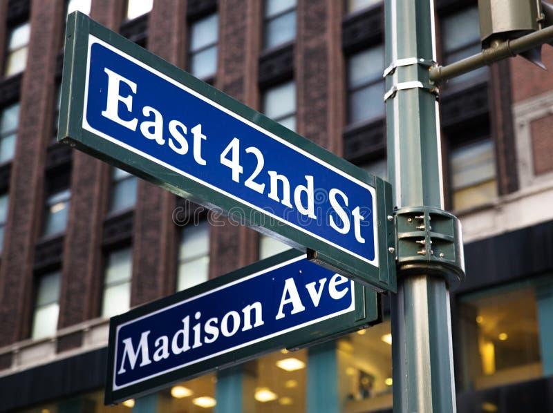 Madison Avenue royaltyfria foton