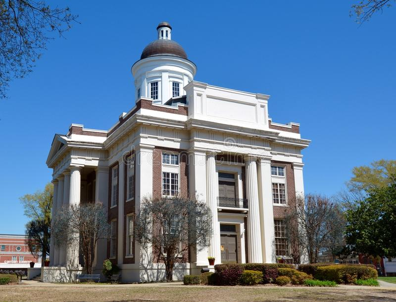 Madison County Courthouse. This is a Spring picture of the Madison County Courthouse in Canto, Mississippi. The courthouse is one of seven surviving antebellum royalty free stock photos