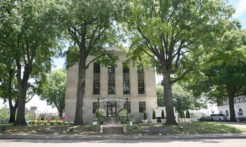 Madison County West Courthouse royalty-vrije stock afbeeldingen