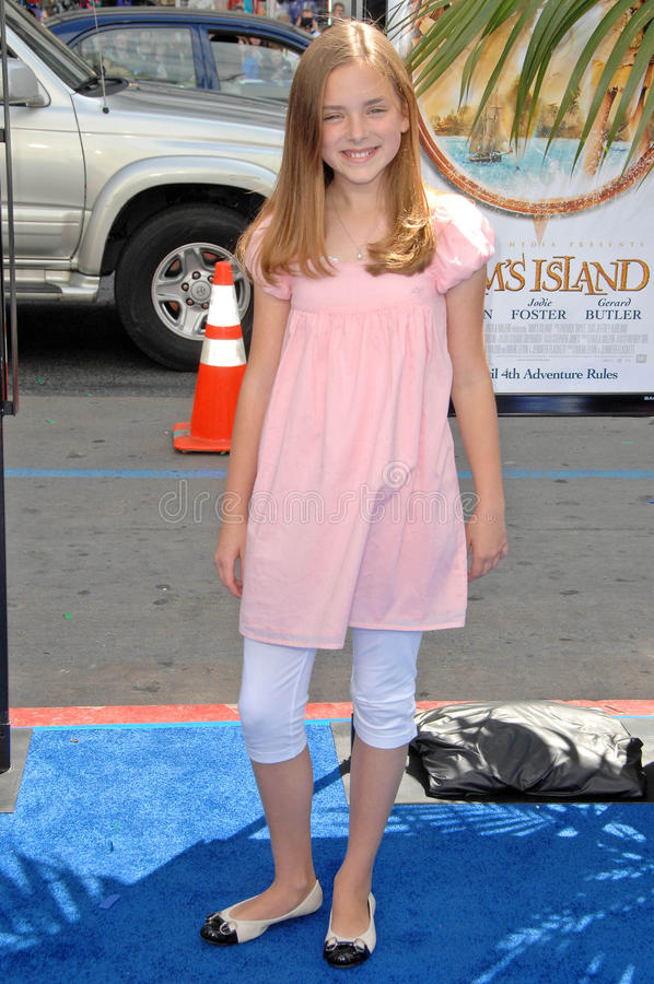 Madison Davenport. At the Los Angeles Premiere of 'Nim's Island'. Grauman's Chinese Theatre, Hollywood, CA. 03-30-08 royalty free stock image