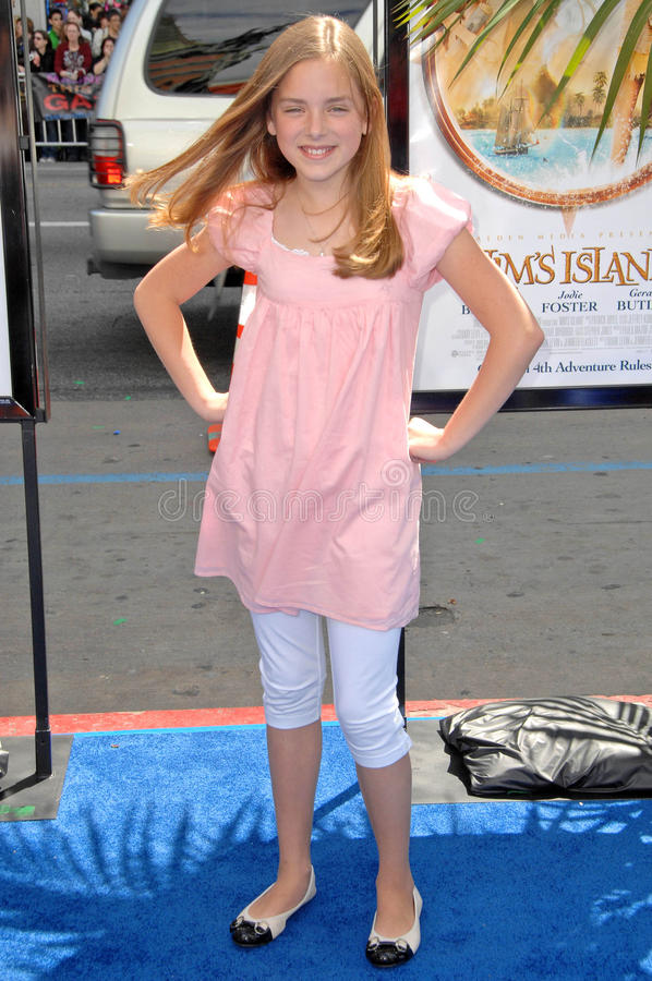 Madison Davenport. At the Los Angeles Premiere of 'Nim's Island'. Grauman's Chinese Theatre, Hollywood, CA. 03-30-08 royalty free stock photography