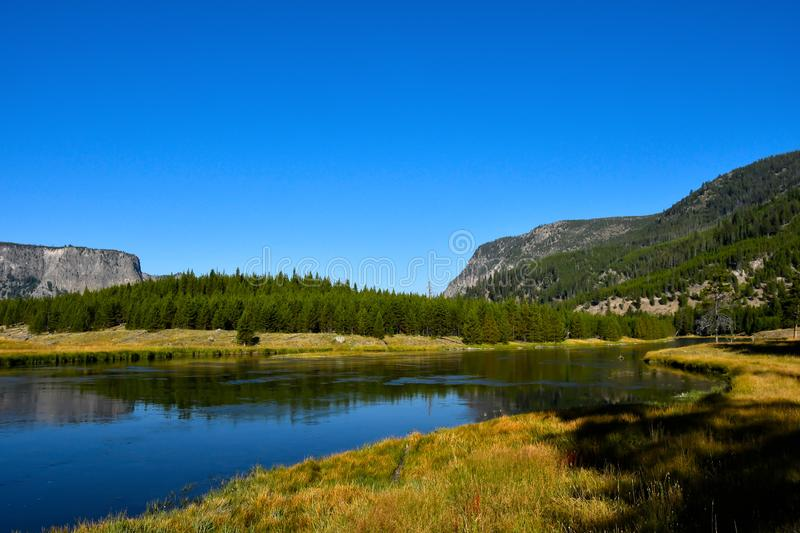 Madison River in het Nationale Park van Yellowstone royalty-vrije stock afbeelding