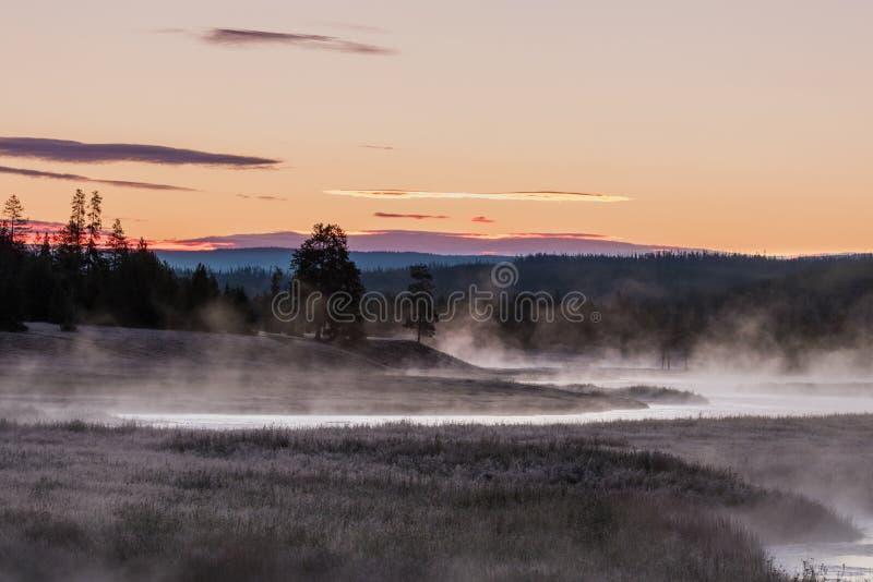 Madison River Sunrise Scenic immagine stock