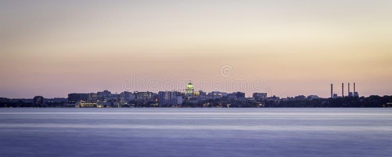 Madison Skyline fotografie stock