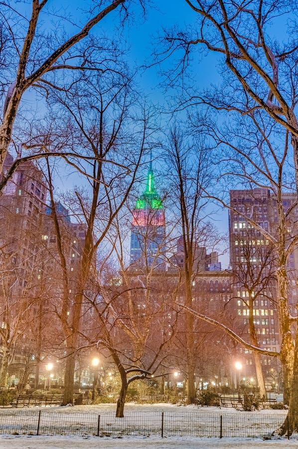 Madison Square à New York, Etats-Unis image libre de droits