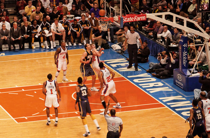 Madison Square Garden de Knicks X Indiana Pacers photo libre de droits