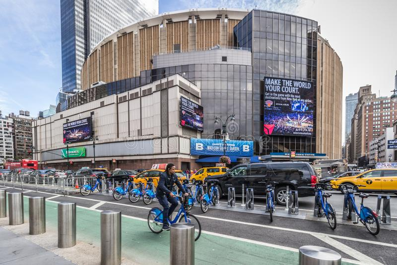 Madison Square Garden, Manhattan, Nowy Jork, usa Październik 14 2018 zdjęcie stock