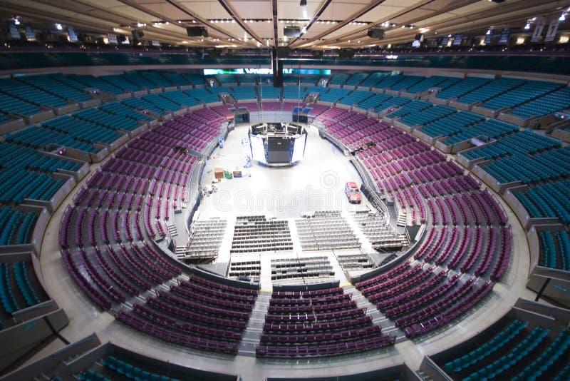 Madison Square Garden vacío fotografía de archivo libre de regalías