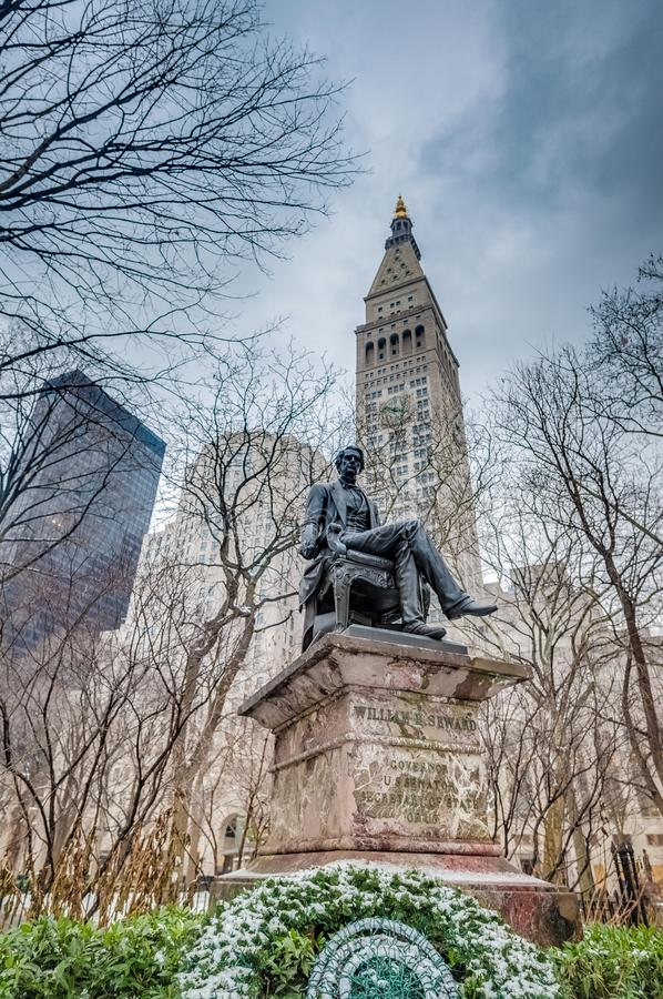 Madison Square in New York, Vereinigte Staaten stockfotos