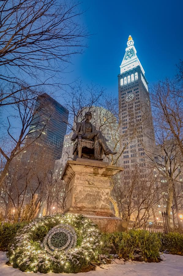 Madison Square in New York, Vereinigte Staaten lizenzfreie stockbilder