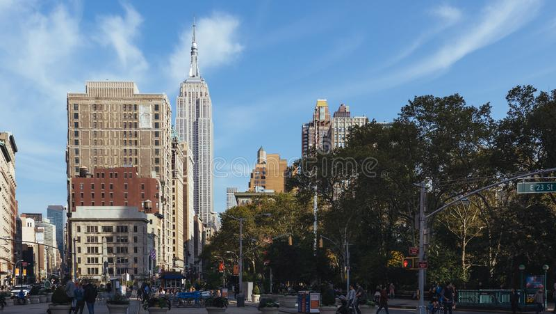 Madison Square Park New York royaltyfri foto